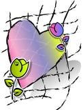 Serce i kwiaty Zdjęcie Royalty Free