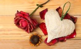 Serce -2 i kwiaty zdjęcia royalty free