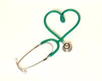 Serce i stetoskop Fotografia Stock