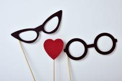 Serce i szkła dla mężczyzna i dla kobiet Zdjęcie Royalty Free