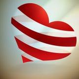 Serce I Valentin ` s dnia karta. Zdjęcia Stock