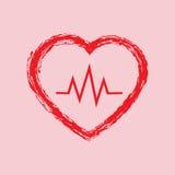 Serce, ikona, wektor, medycyny ikona i wektor, Obraz Stock