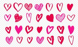 Serce ikony wręczają patroszonego dla walentynka dnia, Save zaproszenia kartka z pozdrowieniami projekt, daty lub ślubu Wektorowe Fotografia Royalty Free