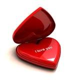 serce ja kocham ty Fotografia Stock
