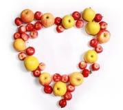 serce jabłkowy romantyczne Zdjęcie Stock