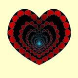Serce jest bezdennością miłość W miłości spadać w bezdenność, kierowi serca zrobili mały wektor Walentynki s dzień Obrazy Royalty Free