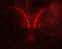 serce jest diabeł. Obrazy Stock
