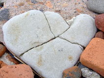 serce kamień Obrazy Royalty Free