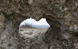 Serce kamień selekcyjna ostrość Obraz Royalty Free
