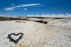 Serce kamień w Bisti pustkowiu Obrazy Stock