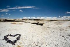 Serce kamień w pustyni Obraz Royalty Free