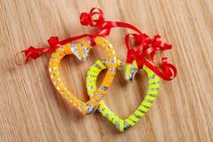 Serce karmelu kształtni candys Obraz Stock