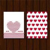 serce karty miłość kształtu walentynki Obraz Stock