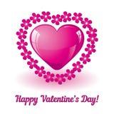 serce karty miłość kształtu walentynki Obrazy Stock