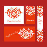 serce karty miłość kształtu walentynki Zdjęcia Royalty Free