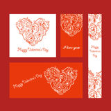 serce karty miłość kształtu walentynki Obraz Royalty Free