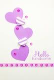 serce karty miłość kształtu walentynki Fotografia Stock