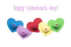 serce karty miłość kształtu walentynki Zdjęcia Stock