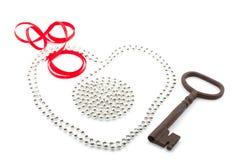 serce klucz Zdjęcie Stock