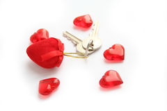 serce klucze zdjęcia stock
