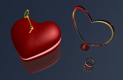 Serce Kluczowy B1a Obraz Royalty Free