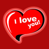 Serce. Kocham ciebie. Zdjęcie Royalty Free