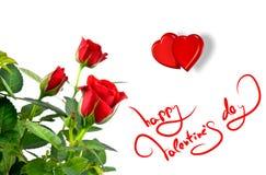 serce kochanków czerwieni róża Obrazy Stock