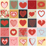 Serce kolaż Zdjęcia Stock
