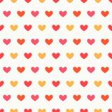 Serce kolorów bezszwowy wzór ilustracji