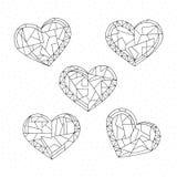 Serce kolorystyki inkasowa książka Ręki rysować abstrakcjonistyczne miłość wakacji wektoru ilustracje Walentynka dnia tło w nowoż ilustracja wektor