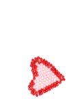 Serce koraliki Zdjęcia Stock