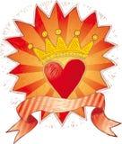 serce koronowany Obraz Royalty Free