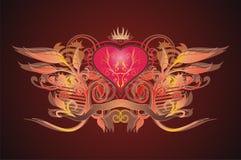 serce królewski Zdjęcia Royalty Free