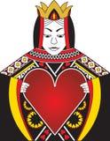 serce królowa Zdjęcia Stock