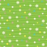 Serce kropek i kwiatów wzór Obrazy Royalty Free