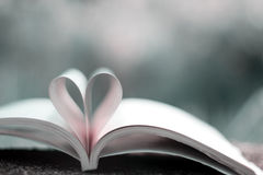 Serce książka Zdjęcia Royalty Free