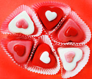 Serce kształtni cukierki Obraz Royalty Free