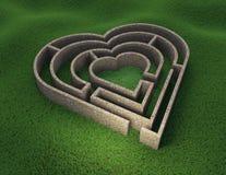 Serce kształtny labirynt royalty ilustracja