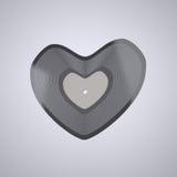 Serce kształtny Winylowy rejestr (muzyki popularnej pojęcie) Zdjęcie Royalty Free