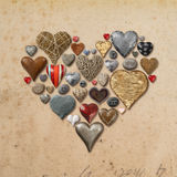 Serce kształtować rzeczy w kierowym kształcie Zdjęcia Stock