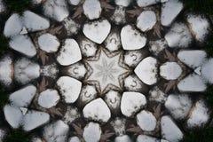 Serce kształtował powtórka wzory z gwiazdą przy centre obraz royalty free