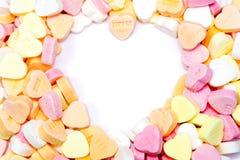 Serce kształtująca cukierek dziura zdjęcia stock