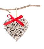 Serce kształtująca dekoracja robić drewno, Obraz Stock