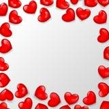 Serce kształtująca koralik rama ilustracja wektor