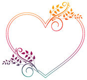 Serce kształtująca rama z gradientową pełnią Fotografia Stock