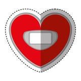 Serce kształtująca skala równowagi cyfrowa ikona Zdjęcie Royalty Free