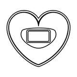 Serce kształtująca skala równowagi cyfrowa ikona Obraz Royalty Free