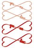 Serce kształtujący nieskończoności znak, wektor Obrazy Stock