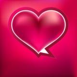 Serce kształtujący wektorów bąble. + EPS8 Zdjęcia Royalty Free