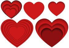 Serce kształty dla Apps, strony internetowe i ilustracja ilustracji